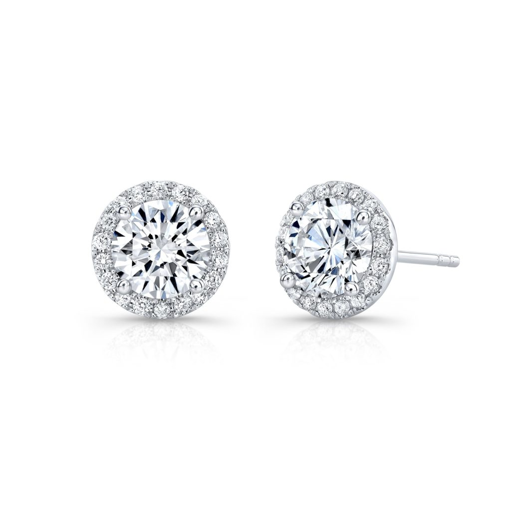 Hallie Moissanite Studs 1.45ct.
