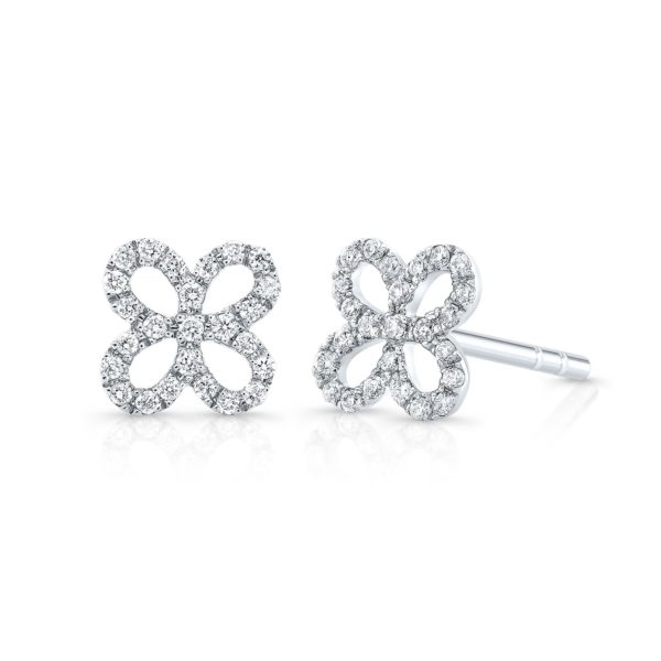 Wallflower Diamond Stud Earrings