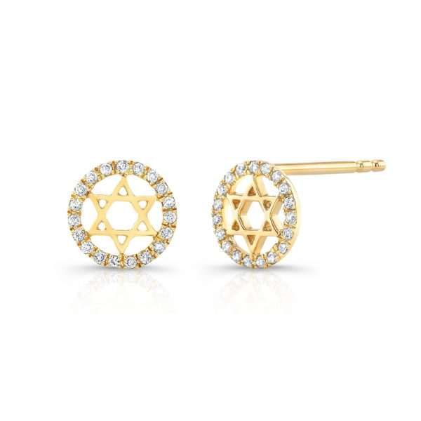 Star Of David Halo Studs