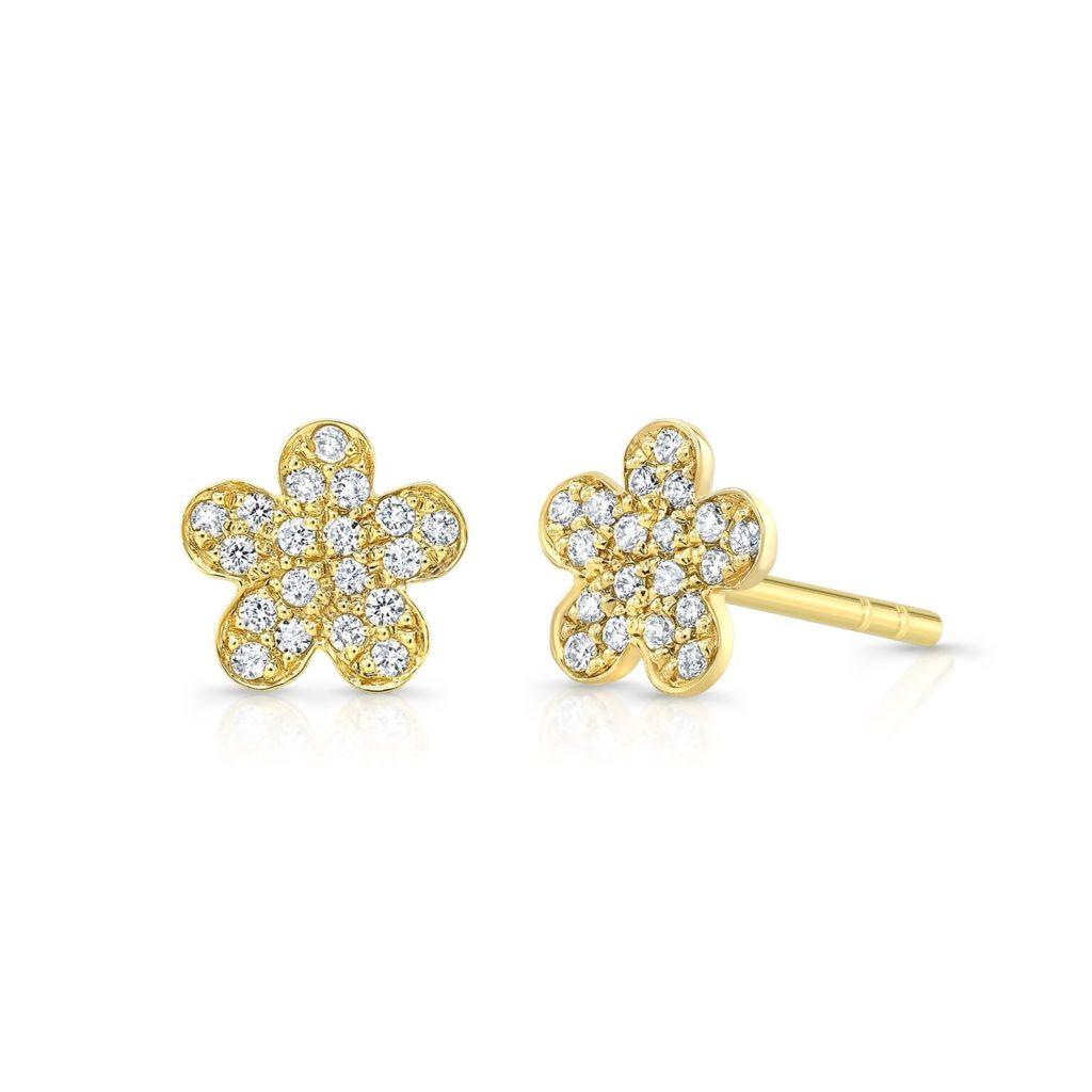 Flower Diamond Studs