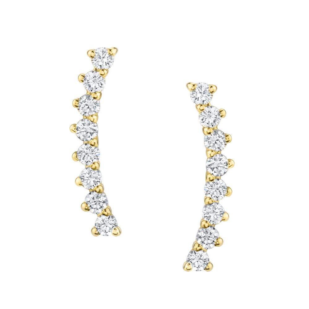 Upward Diamond Earrings