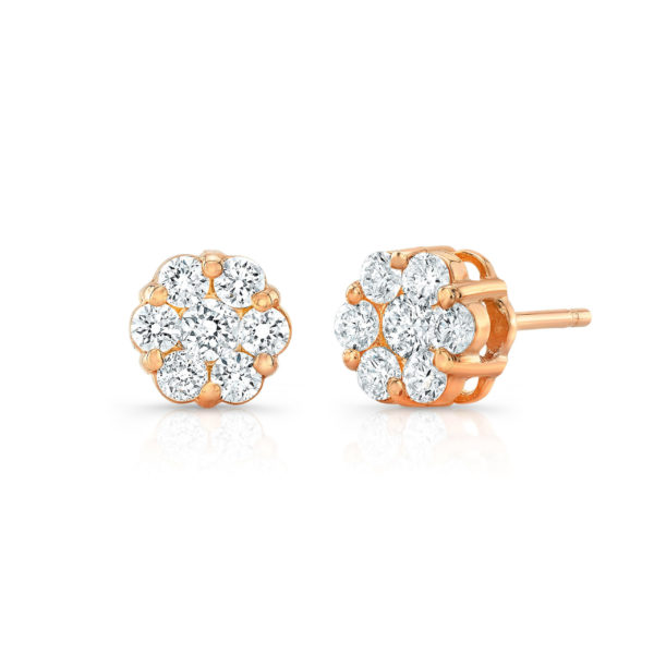 Flower Cluster Studs 0.50ct
