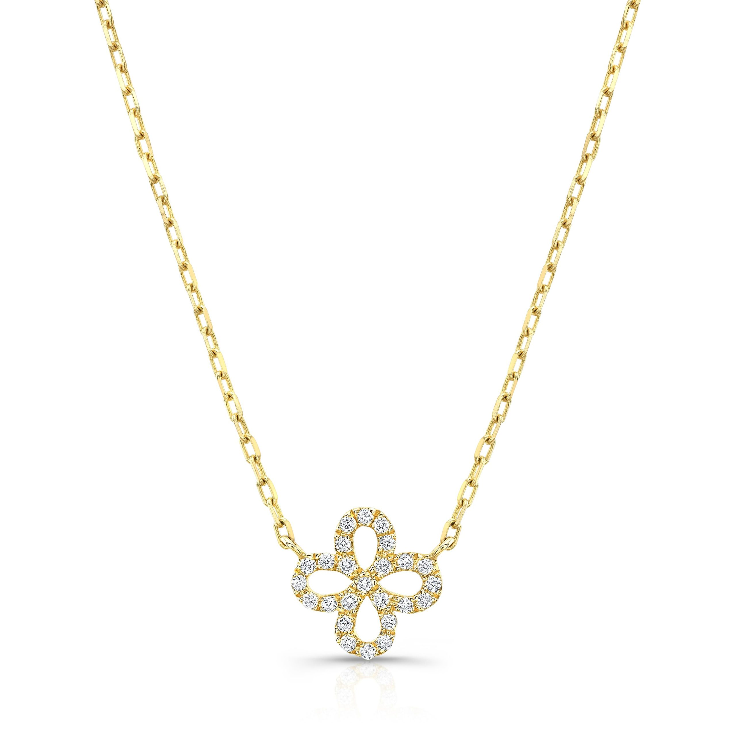 Flower Outline Necklace