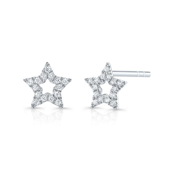Outline Star Diamond Studs