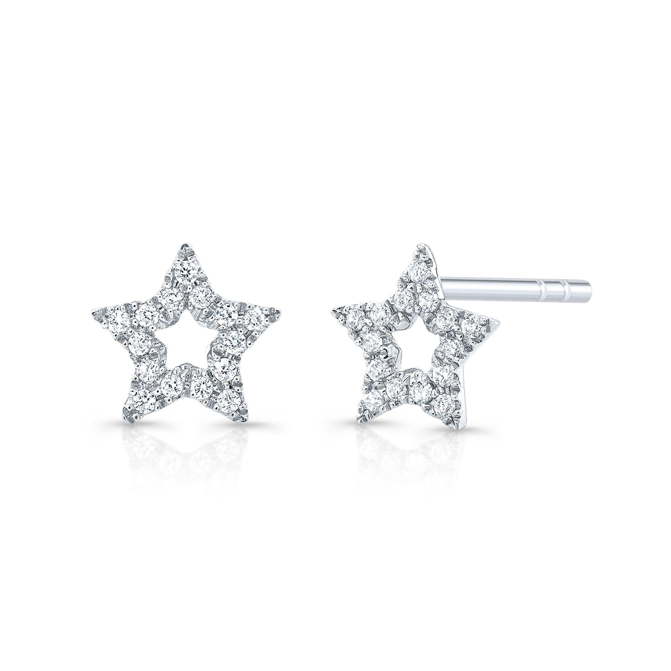 Outline Star Diamond Studs