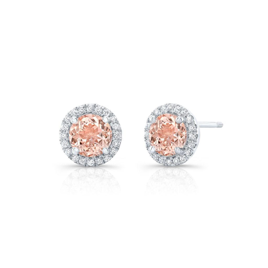Shayla Morganite Studs .62ct.