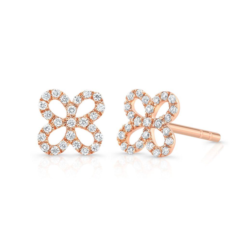 Wallflower Diamond Stud Earrings