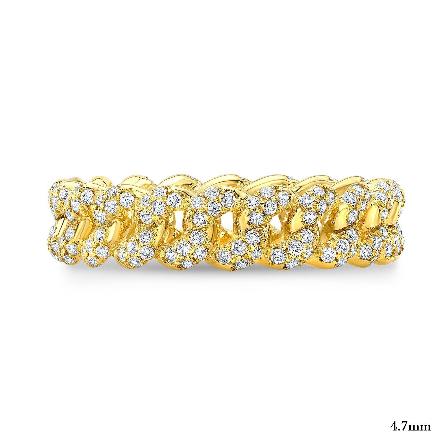 Diamond Cuban Link Eternity Ring