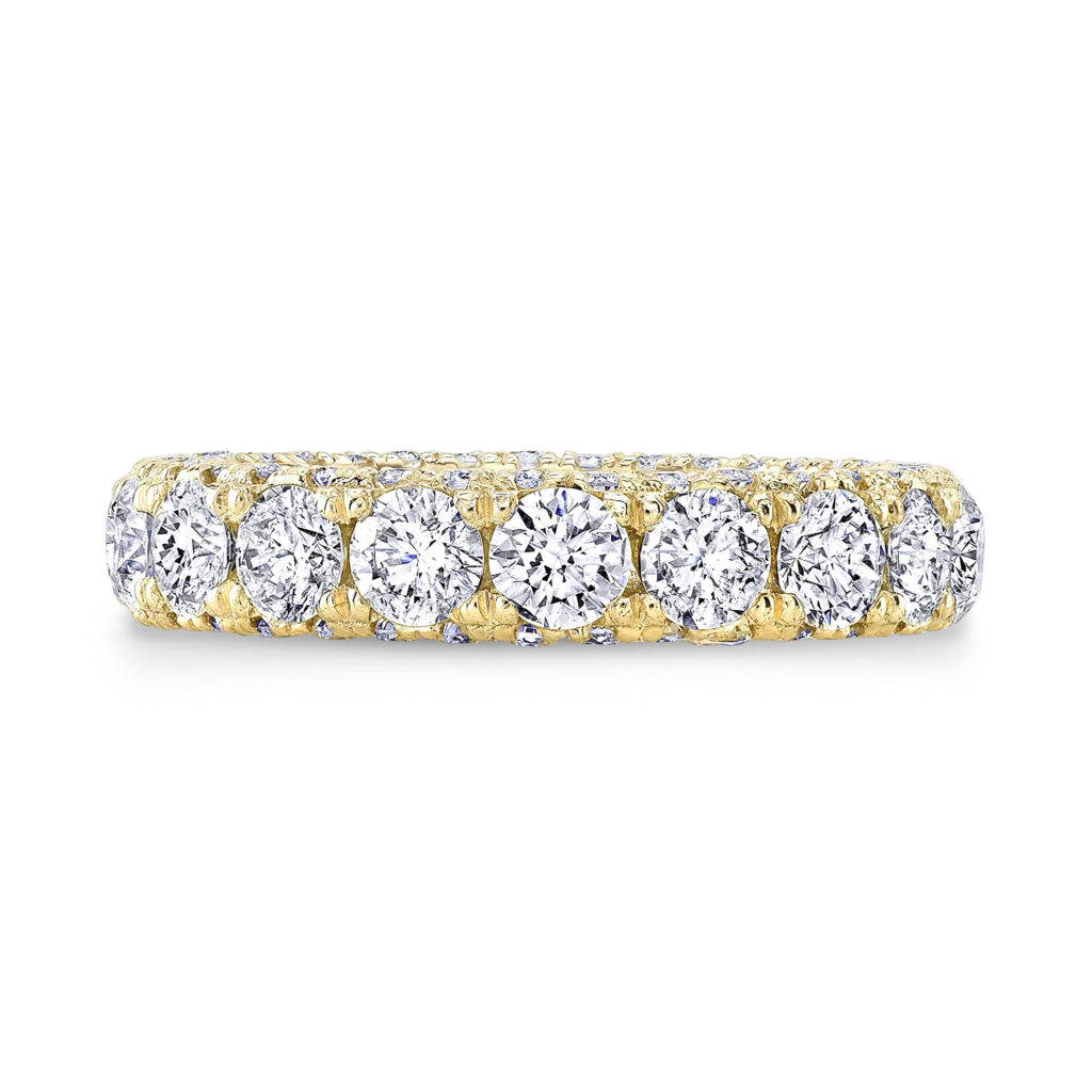 Ella 3-Sided Diamond Eternity Band