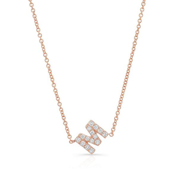 Diamond Initial Neckalce