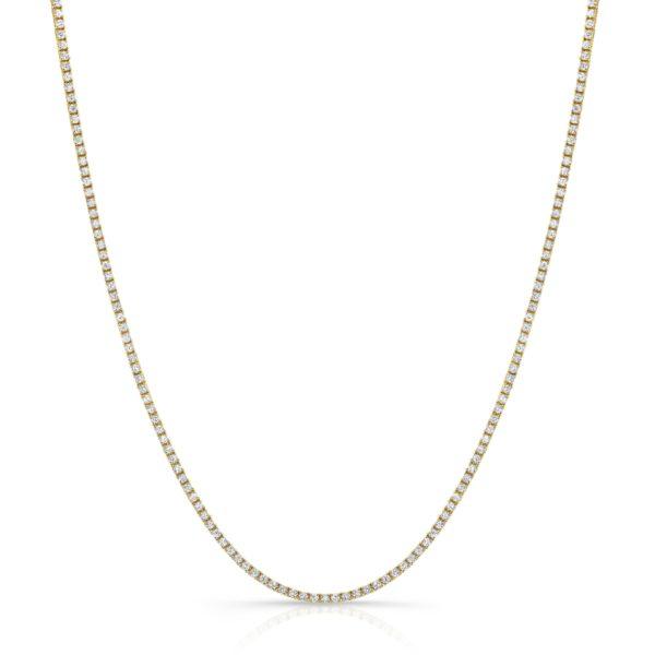 4.03ct Diamond Tennis Necklace