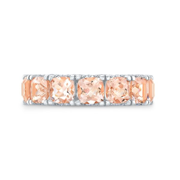 Lauren Morganite Eternity Ring