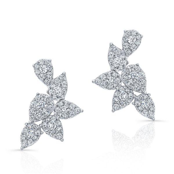 Isabeli Diamond Cluster Earrings