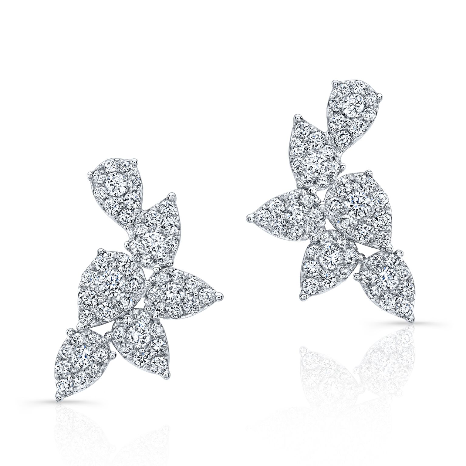 Isabeli Diamond Cluster Earrings