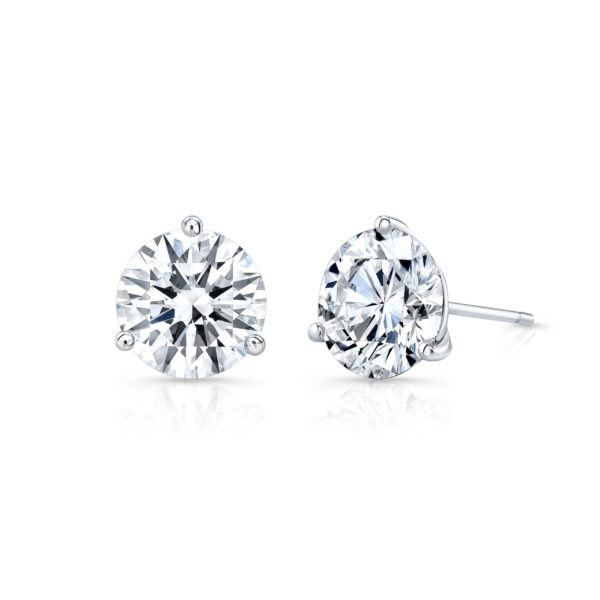 4.40ct. Round Moissanite Studs