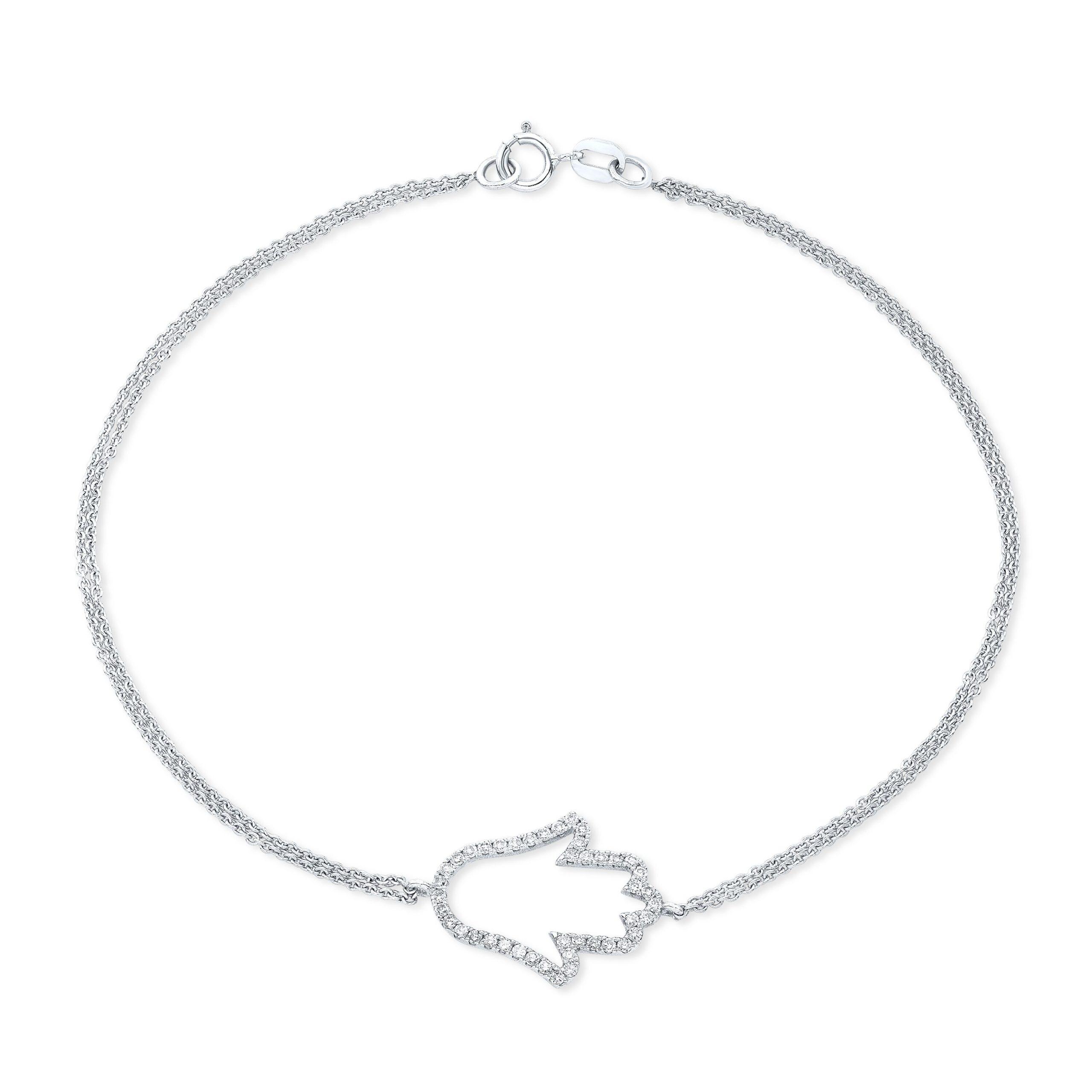 Hamsa Outline Bracelet