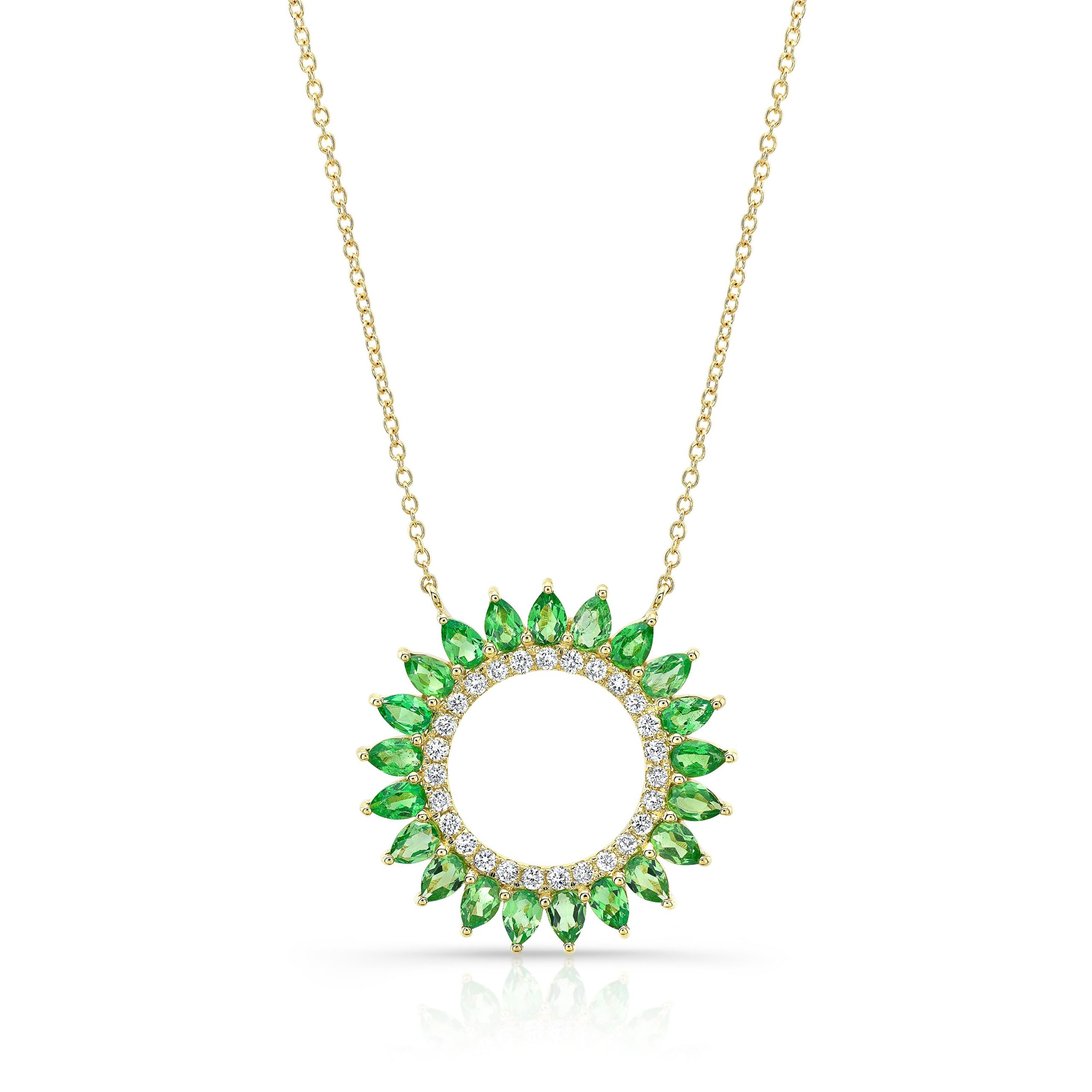 Peridot Flower Necklace