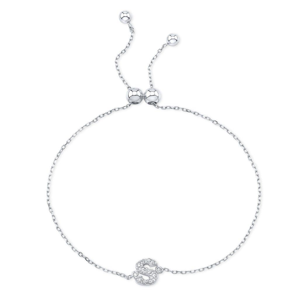 Diamond Initial Bracelet