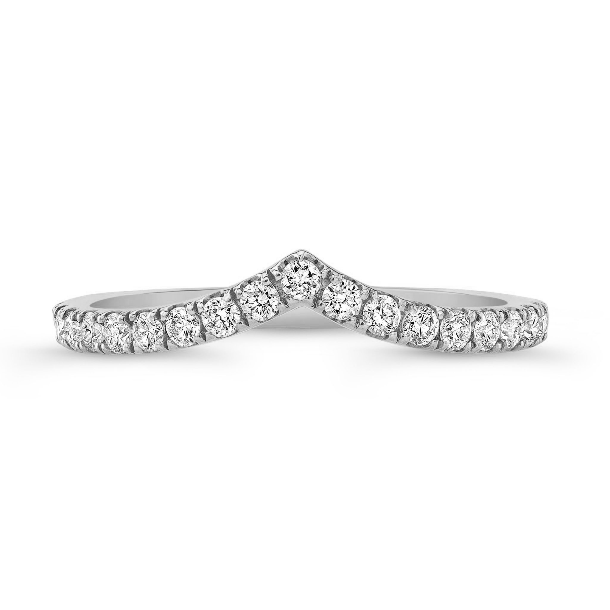 Mia .35ct Chevron Diamond Band