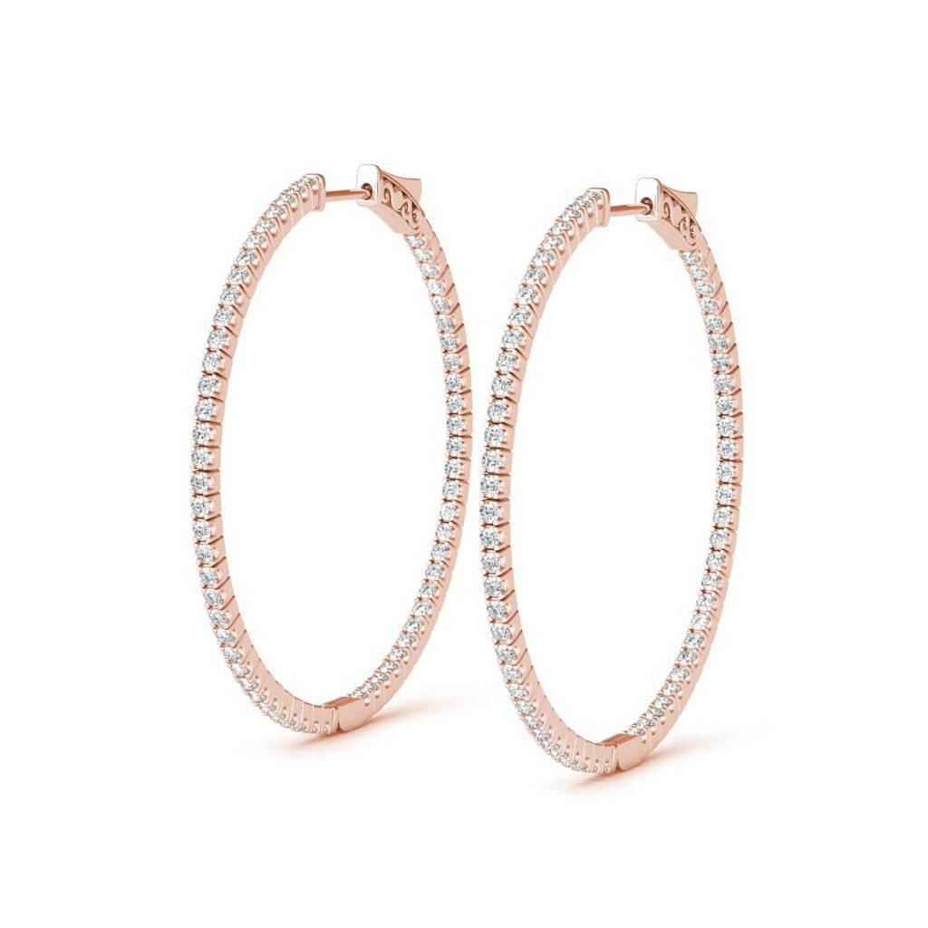 1.80″ Diamond Hoop Earring