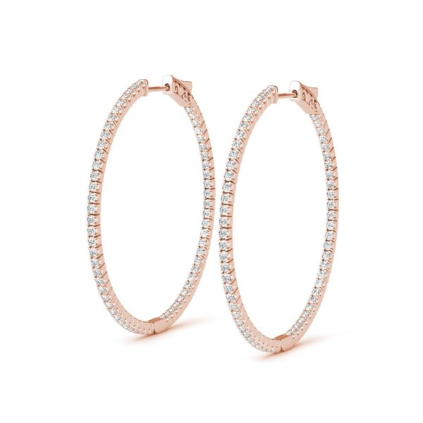 1.80″ Diamond Hoop Earring