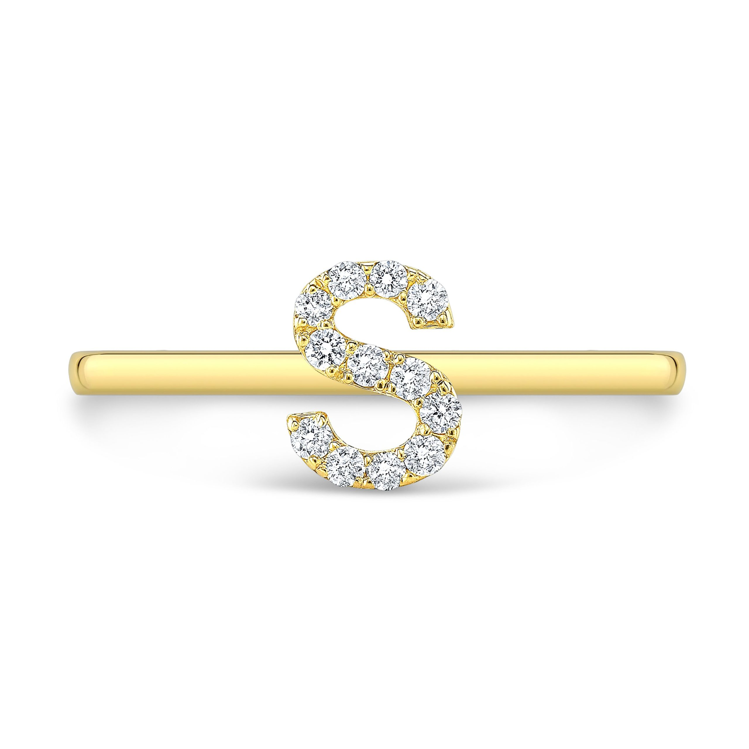 Pave Initial Ring