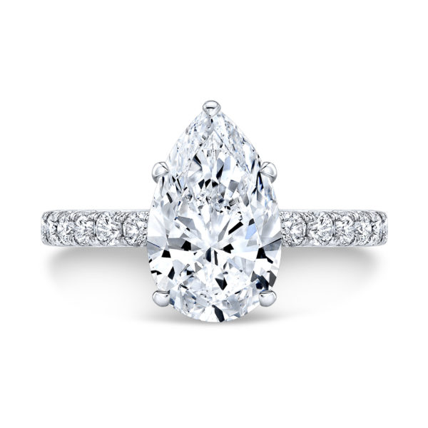 Shira Pear Moissanite