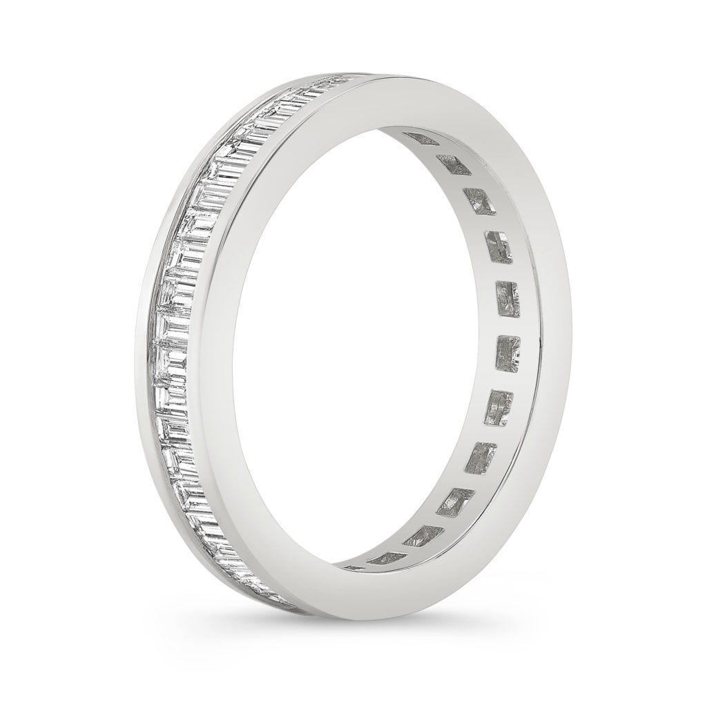 Channel Set Diamond Baguette Eternity Ring
