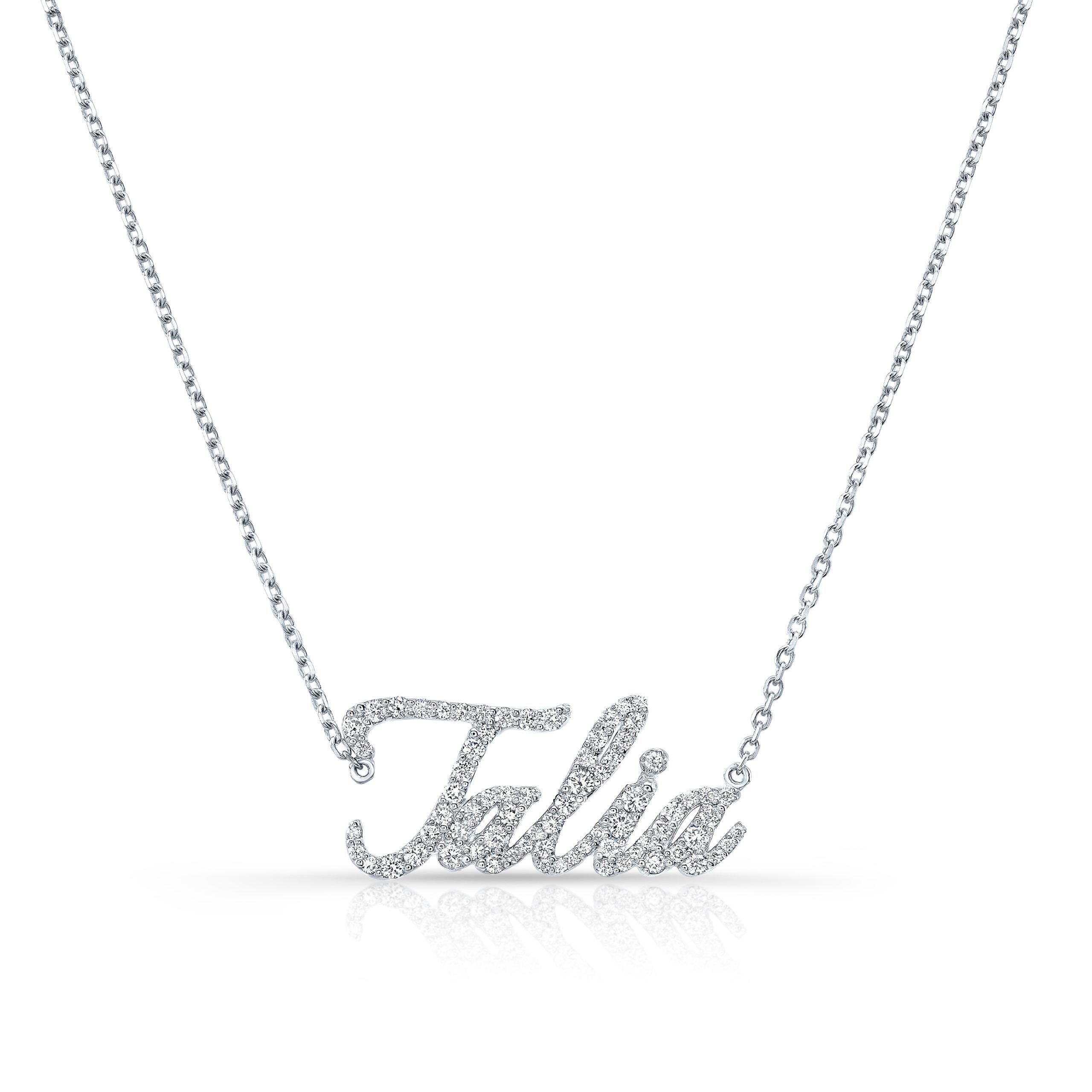 Cursive Nameplate Necklace