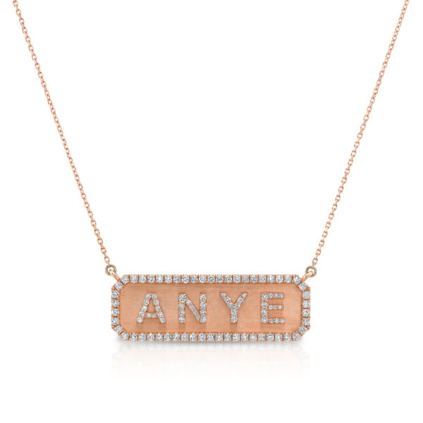 Horizontal Nameplate Necklace