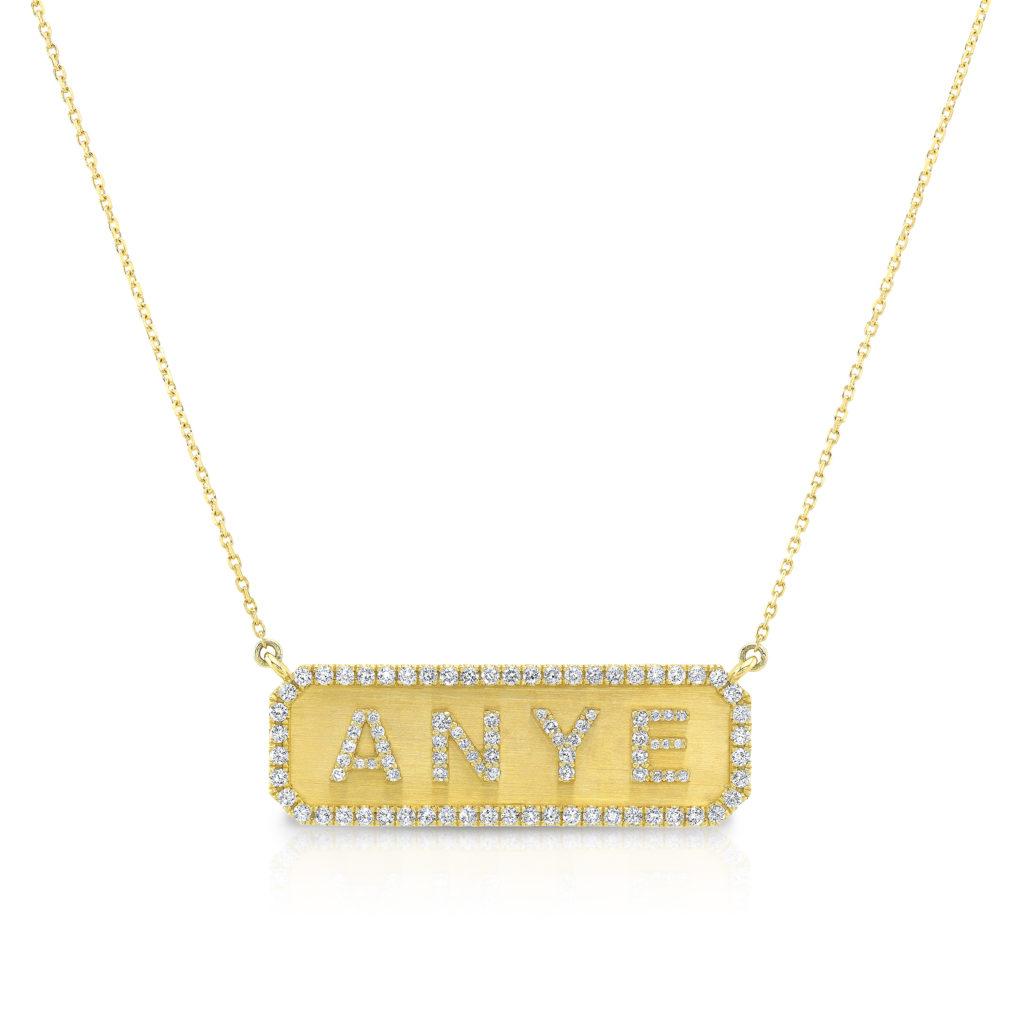 Horizontal Nameplate Necklace