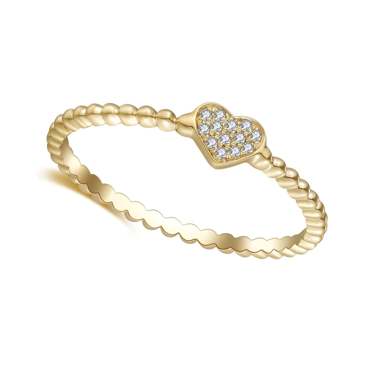 Mini Heart Pave Ring