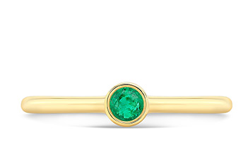 Gemstone Bezel Band