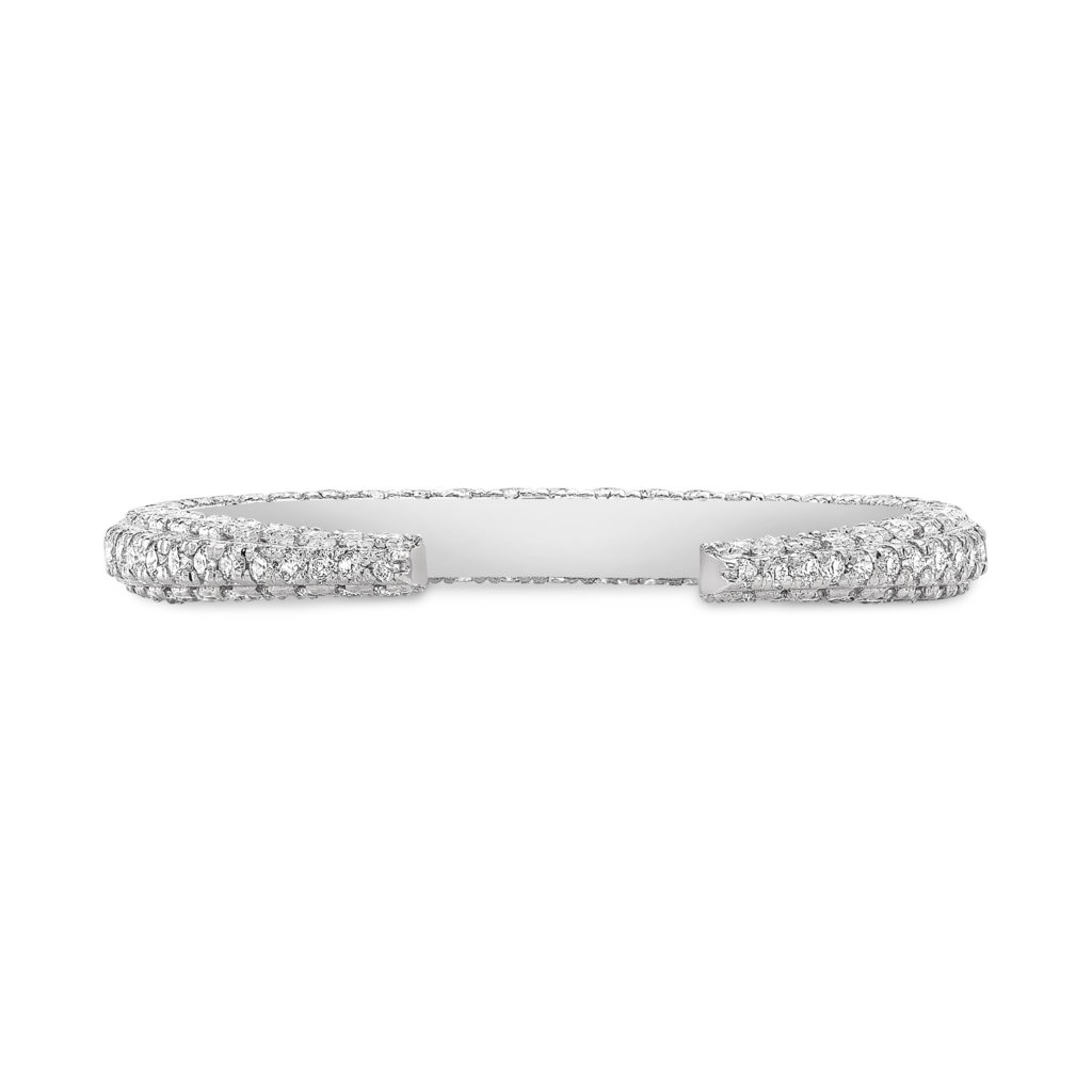 Amelia 3-Sided Pave Claw Band