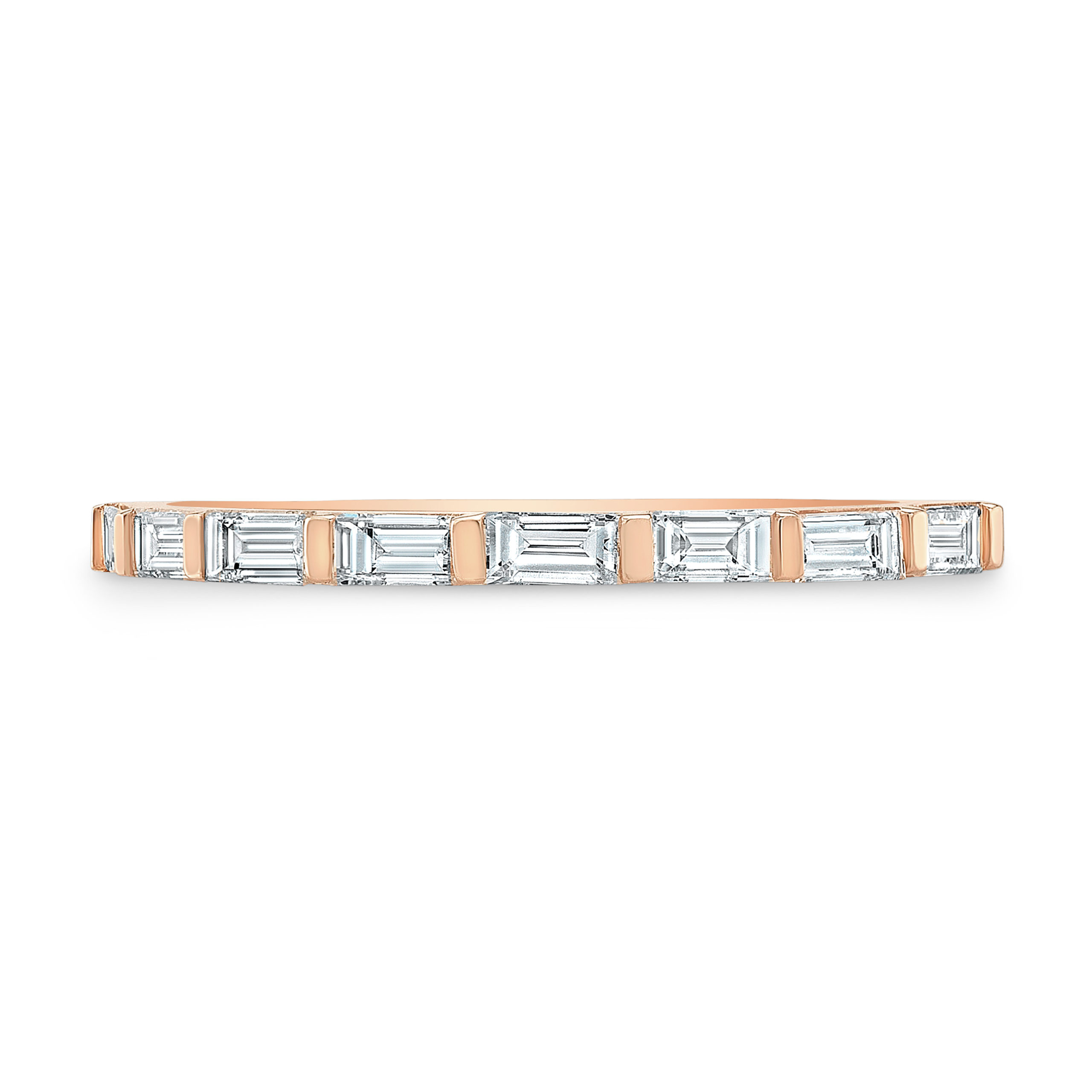 Diamond Baguette Line Band