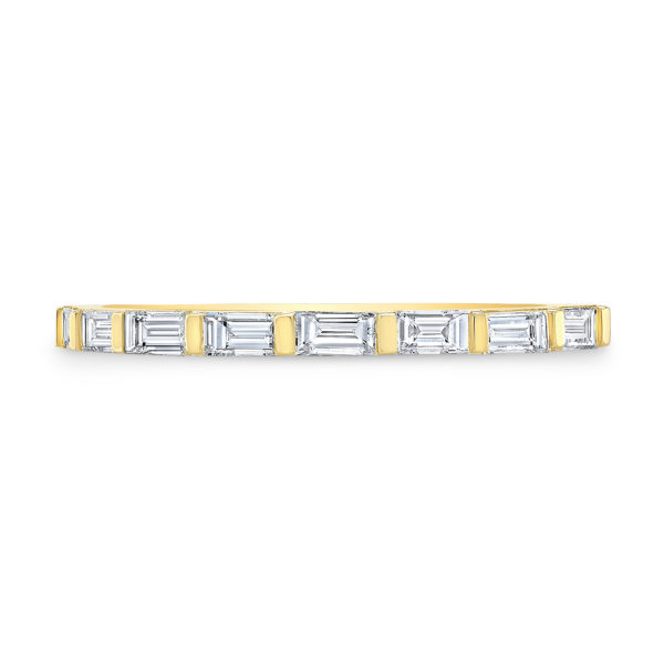 Diamond Baguette Line Band