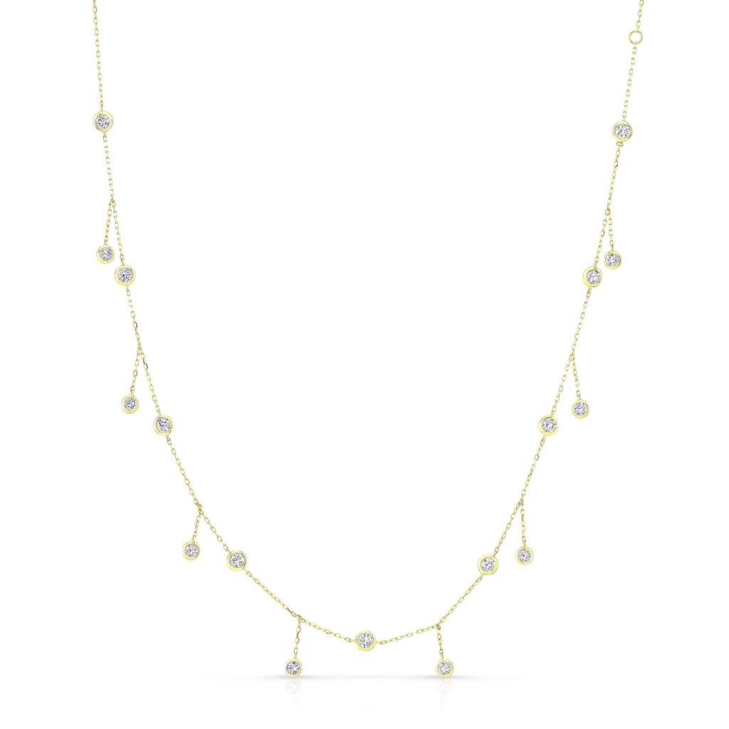 Bezel Drop Necklace