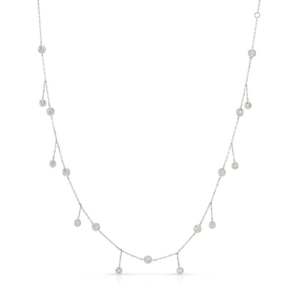 Bezel Drop Necklace
