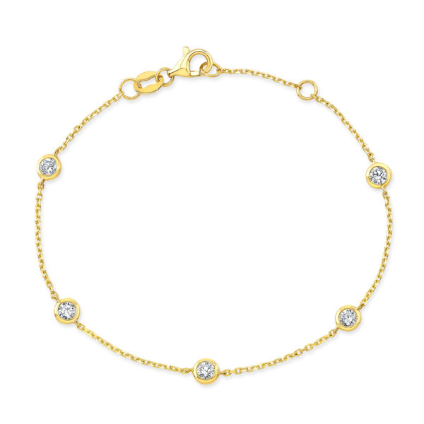 Diamond Eternity Bezel Bracelet