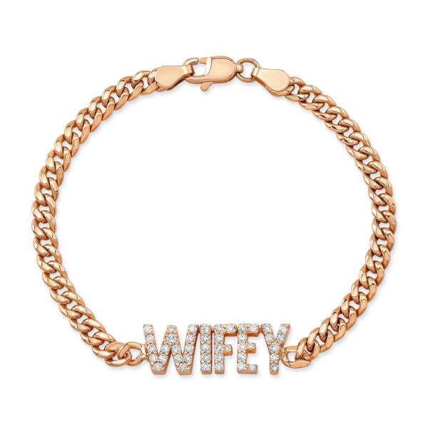 Pave Cuban Name Bracelet