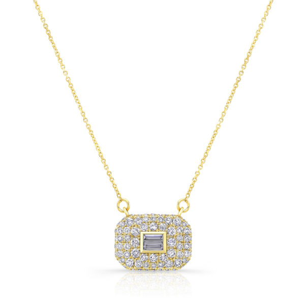 Pave Illusion Baguette Necklace