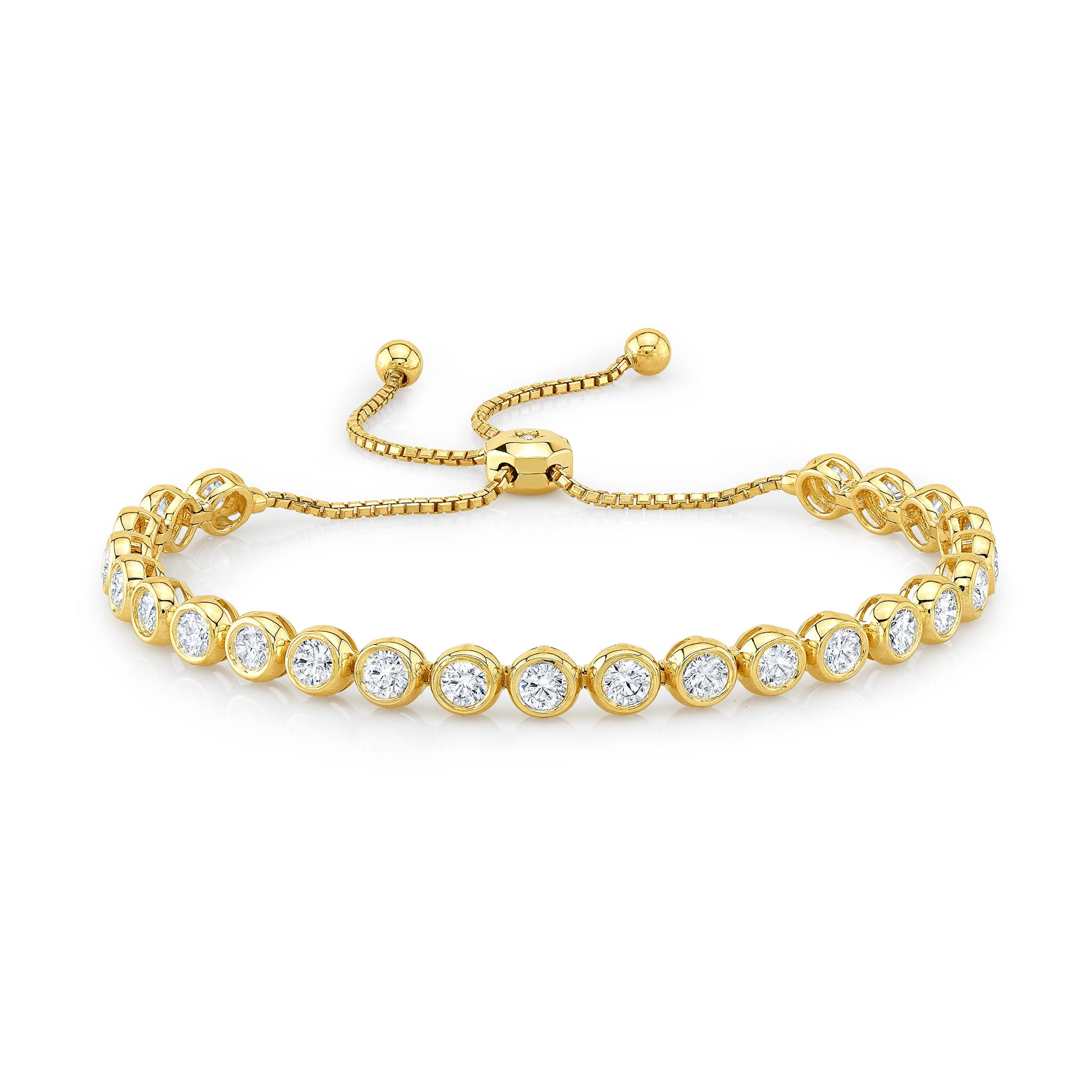 Moissanite Tennis Bezel Bracelet