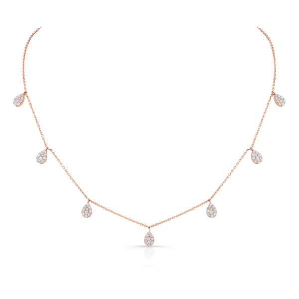 Illusion Pear Dangle Choker