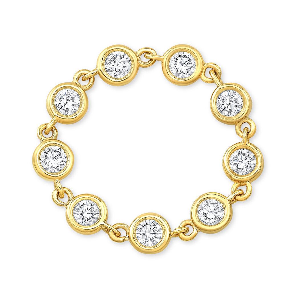 Flexible Diamond Bezel Ring