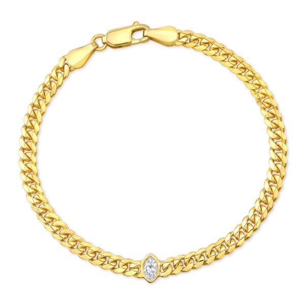 Marquise Bezel Cuban Bracelet